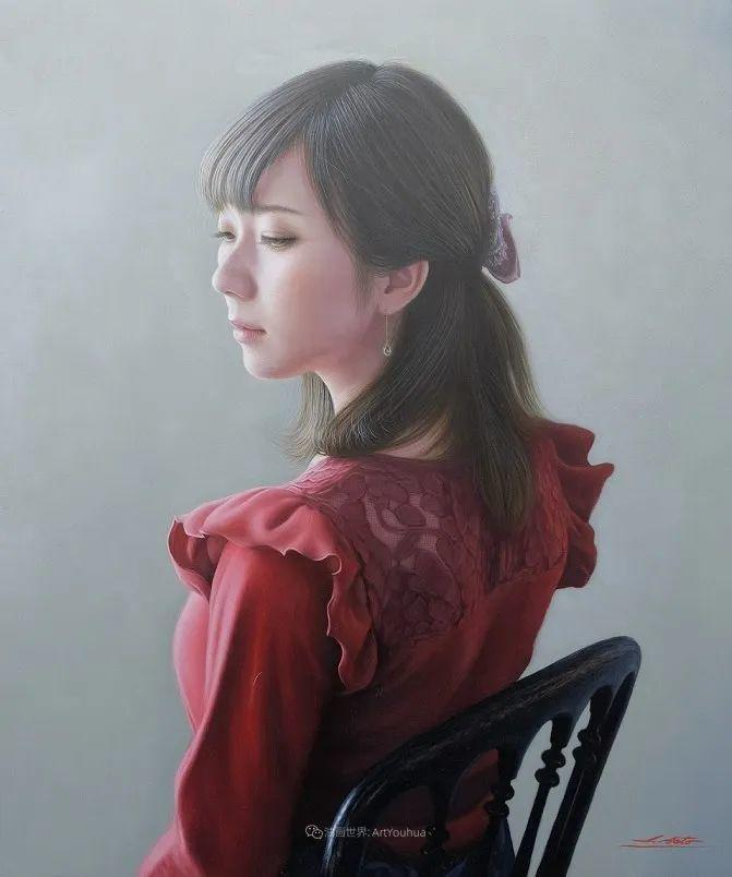 日本画家佐藤功笔下的清纯美女,如照片般的质感!插图21
