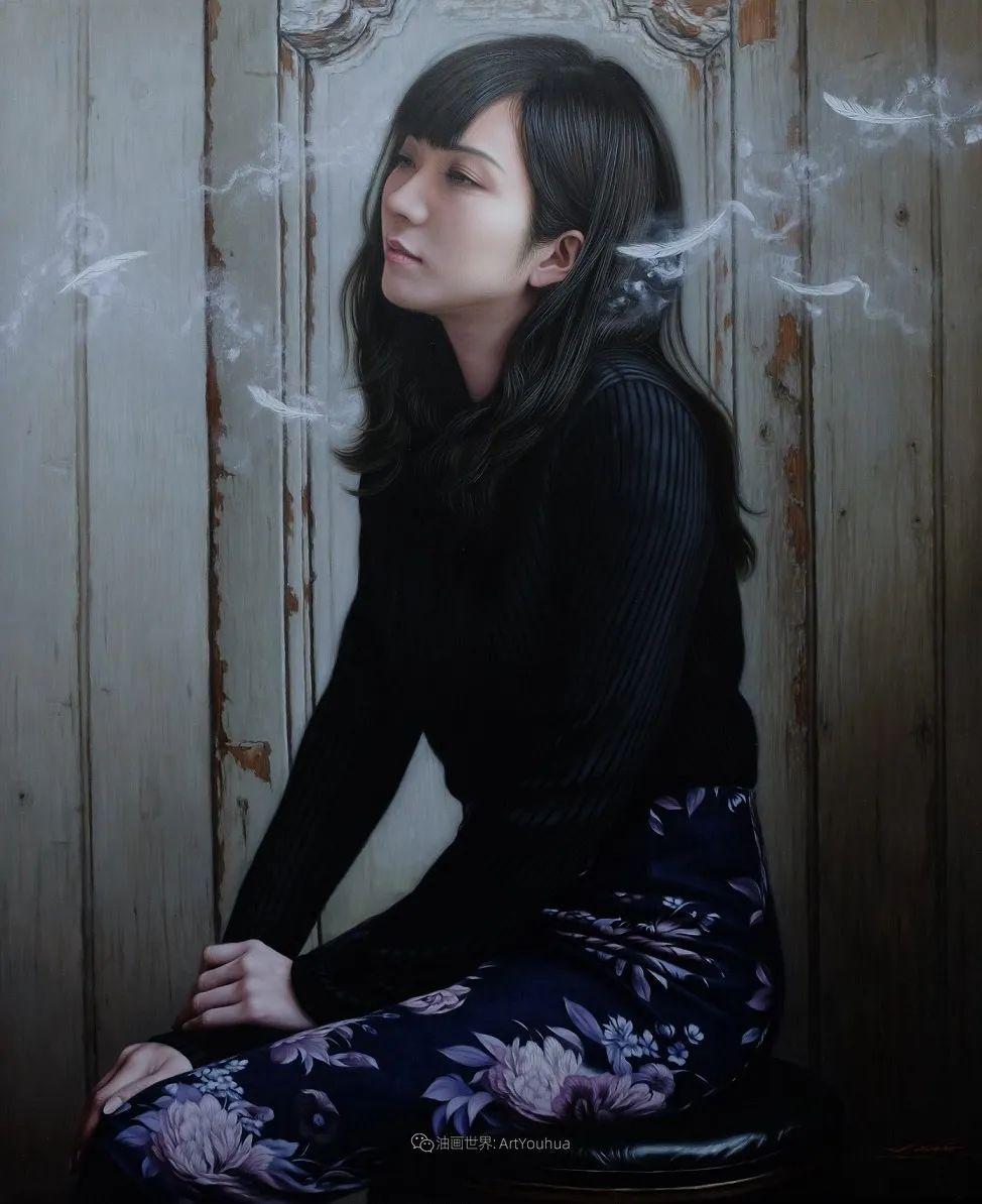 日本画家佐藤功笔下的清纯美女,如照片般的质感!插图23