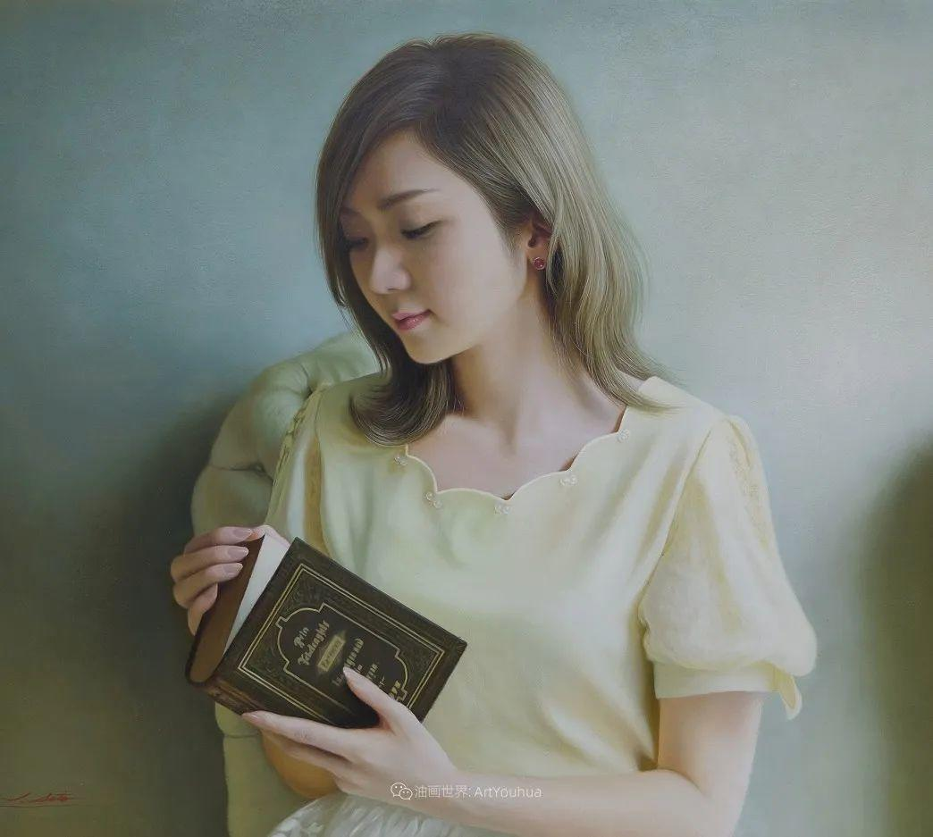 日本画家佐藤功笔下的清纯美女,如照片般的质感!插图25