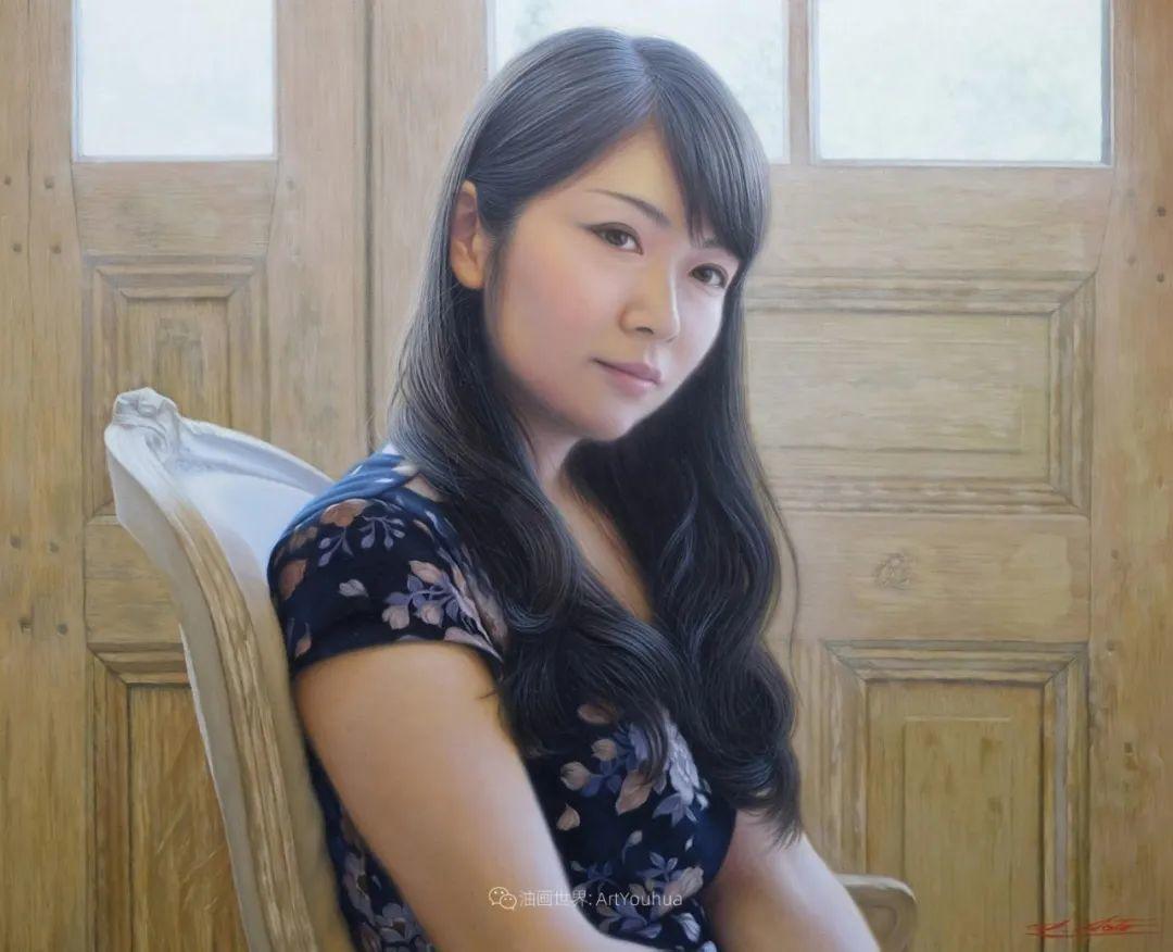 日本画家佐藤功笔下的清纯美女,如照片般的质感!插图29