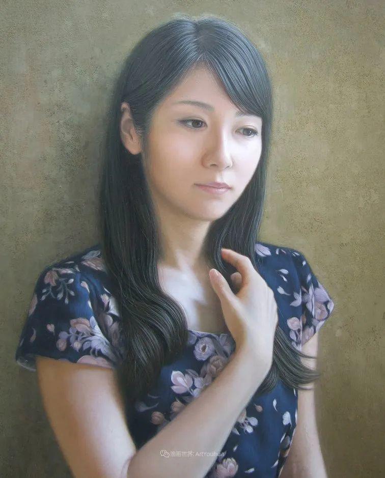 日本画家佐藤功笔下的清纯美女,如照片般的质感!插图31