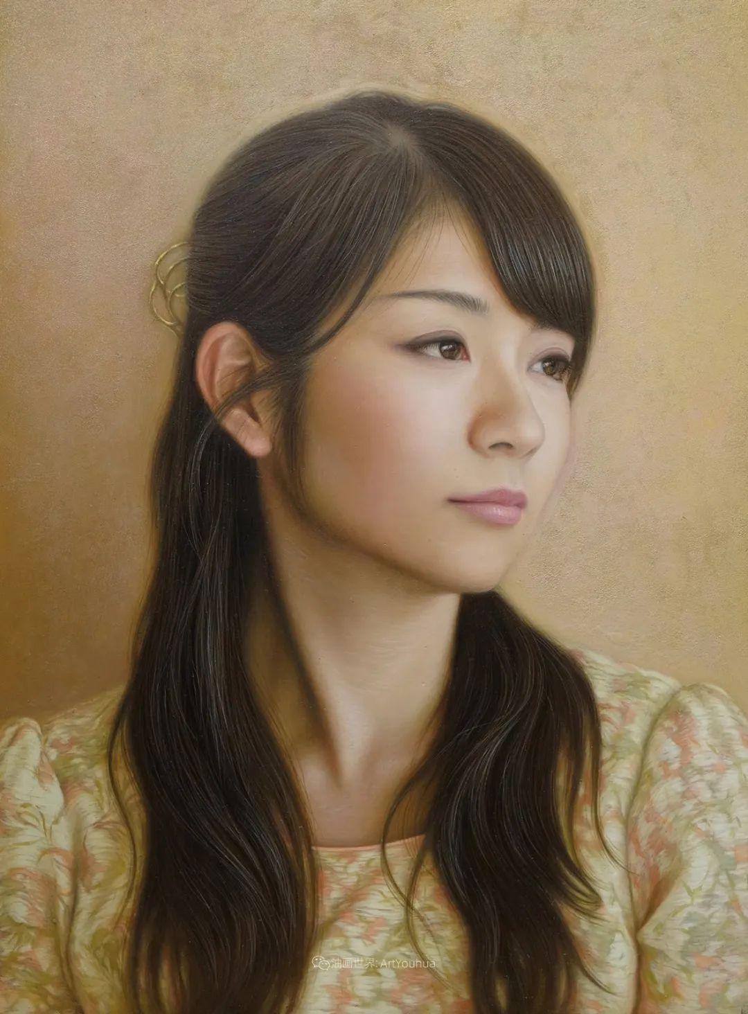 日本画家佐藤功笔下的清纯美女,如照片般的质感!插图33