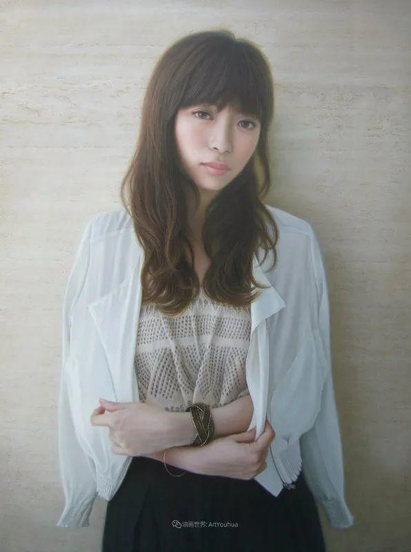 日本画家佐藤功笔下的清纯美女,如照片般的质感!插图35