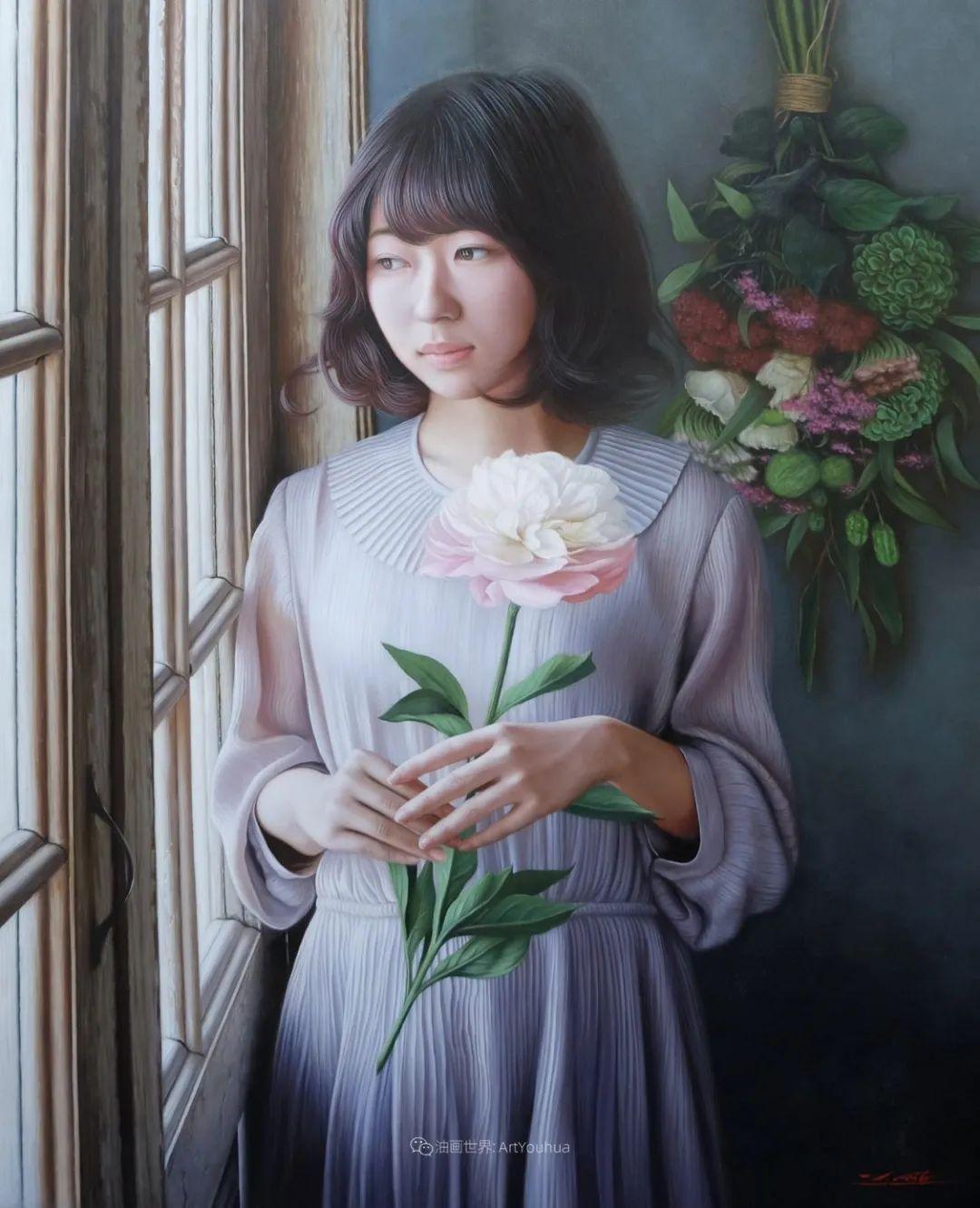 日本画家佐藤功笔下的清纯美女,如照片般的质感!插图37