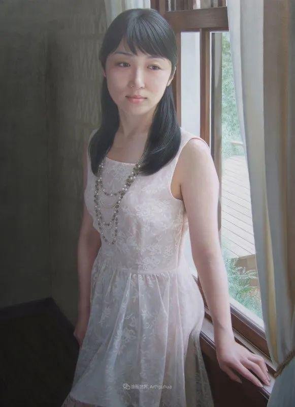 日本画家佐藤功笔下的清纯美女,如照片般的质感!插图39