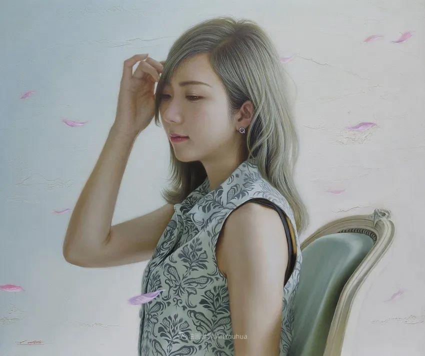 日本画家佐藤功笔下的清纯美女,如照片般的质感!插图41