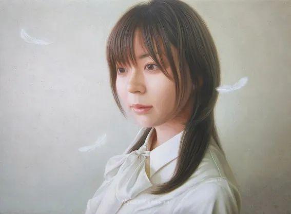 日本画家佐藤功笔下的清纯美女,如照片般的质感!插图47