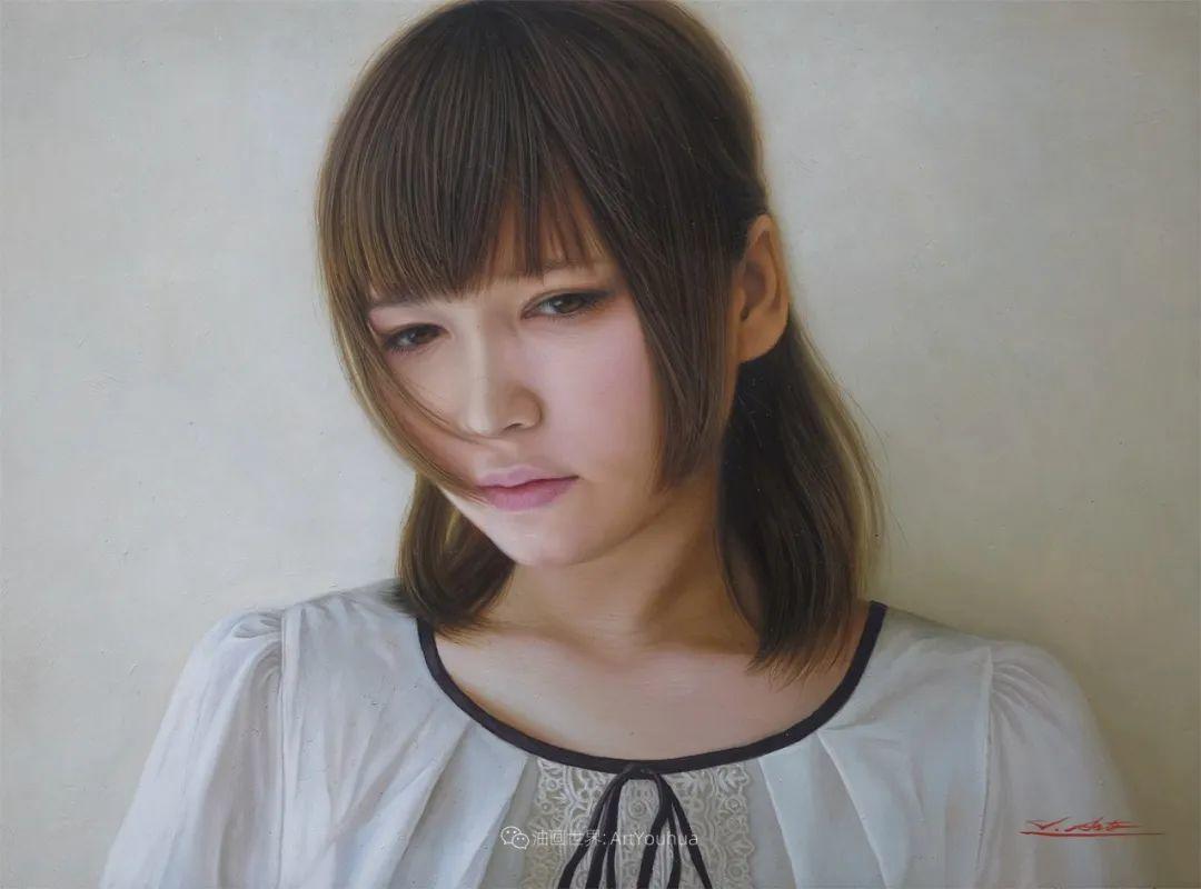 日本画家佐藤功笔下的清纯美女,如照片般的质感!插图49
