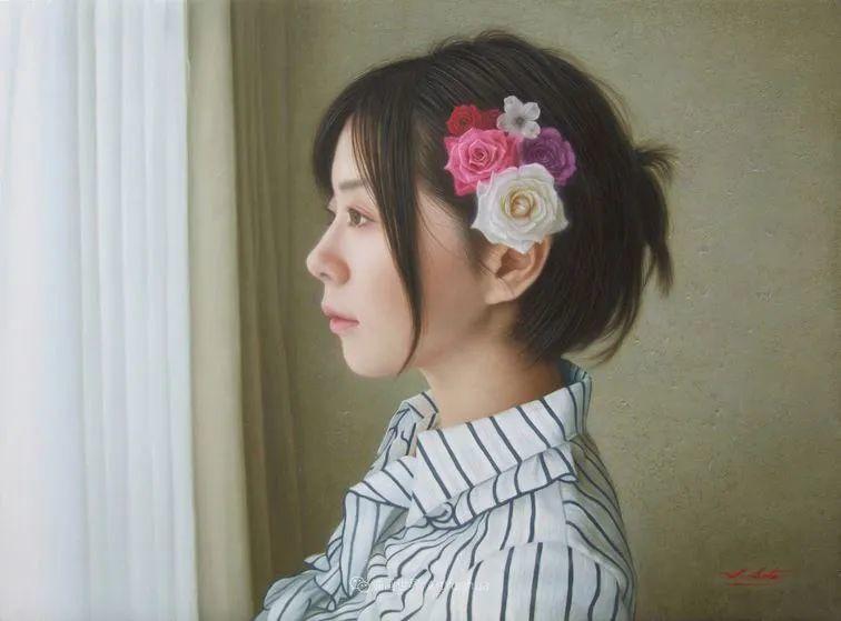 日本画家佐藤功笔下的清纯美女,如照片般的质感!插图51