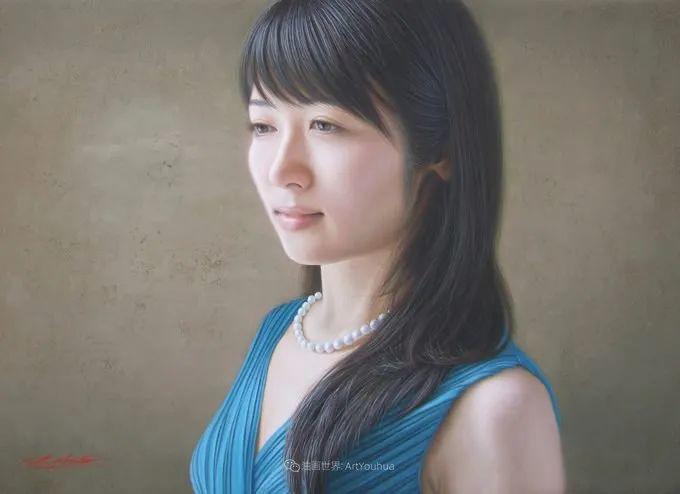 日本画家佐藤功笔下的清纯美女,如照片般的质感!插图55