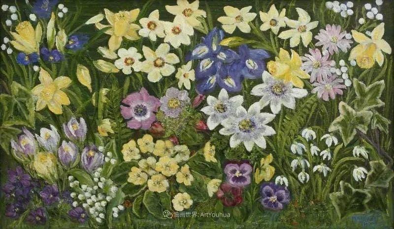 她活了100岁,笔下花卉静物,意想不到的美!插图47