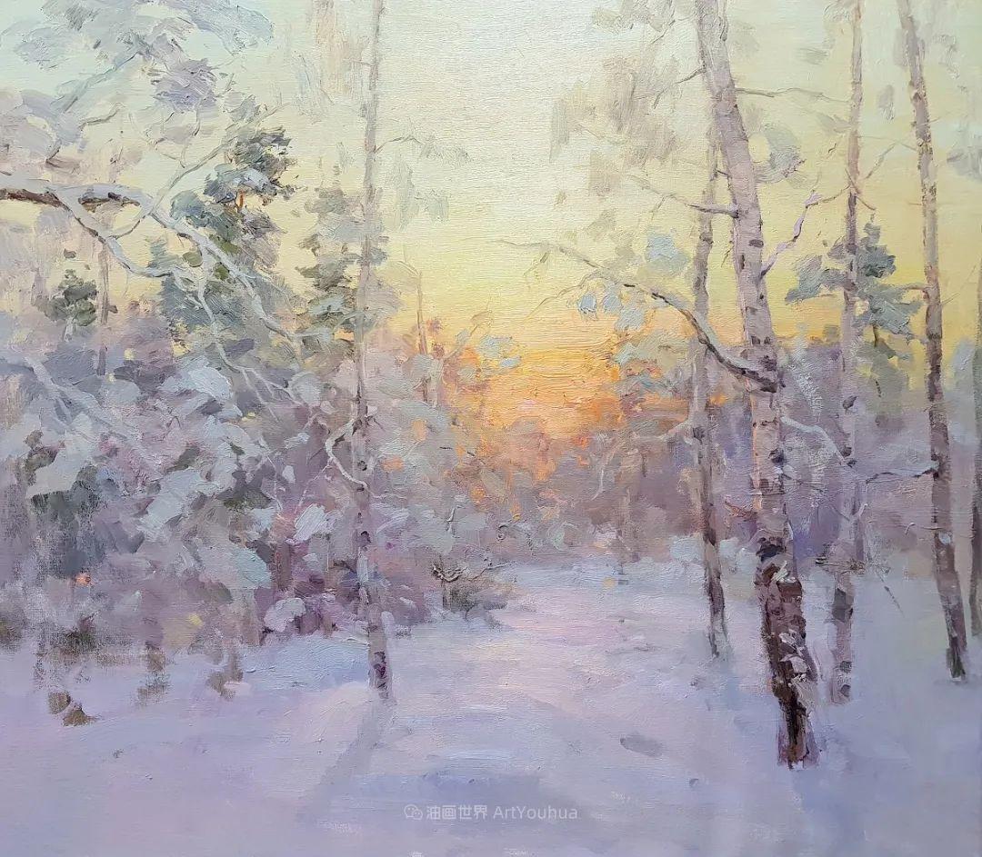 如此清新秀丽的油画风景,简简单单的美!插图1