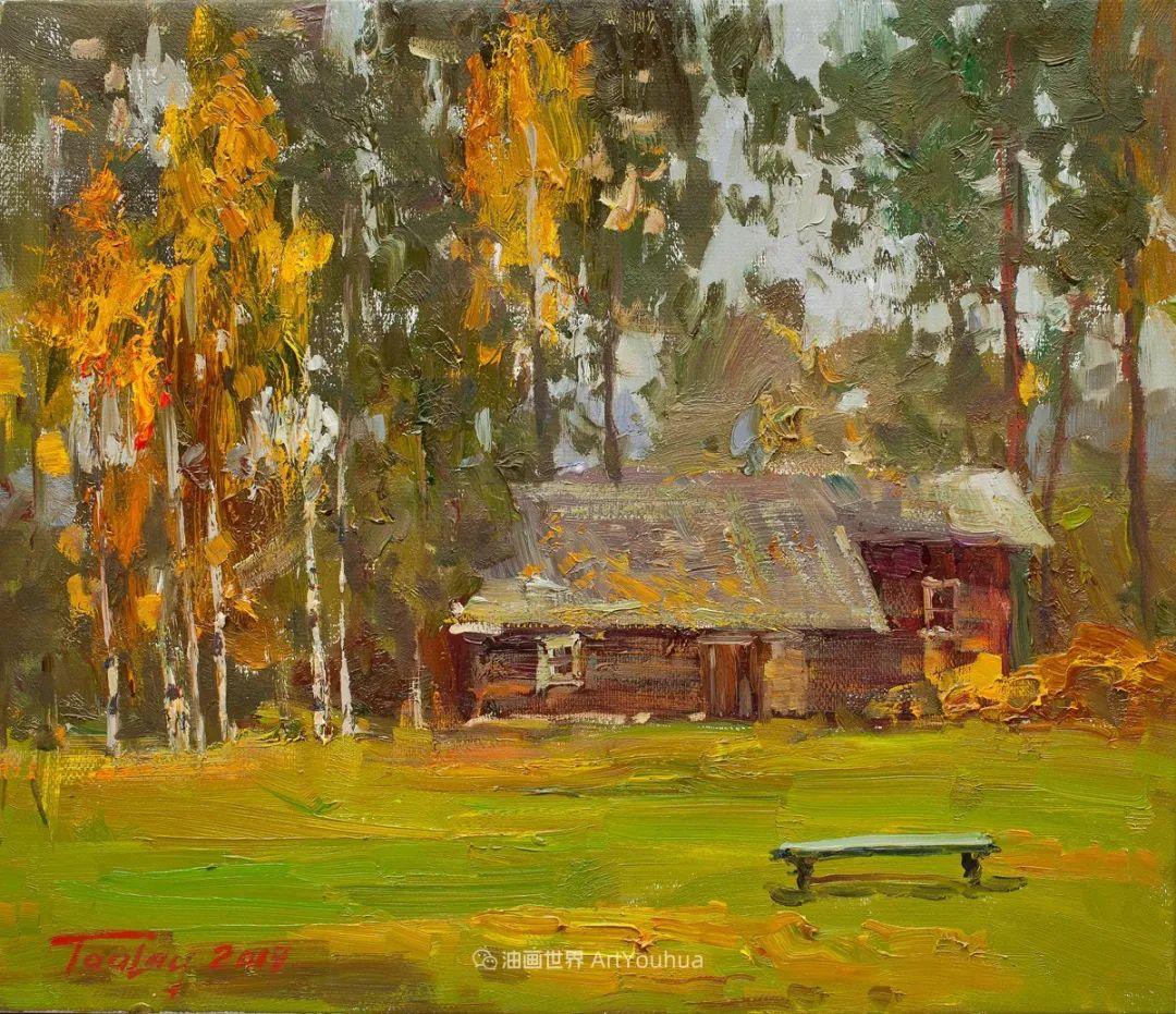 如此清新秀丽的油画风景,简简单单的美!插图23