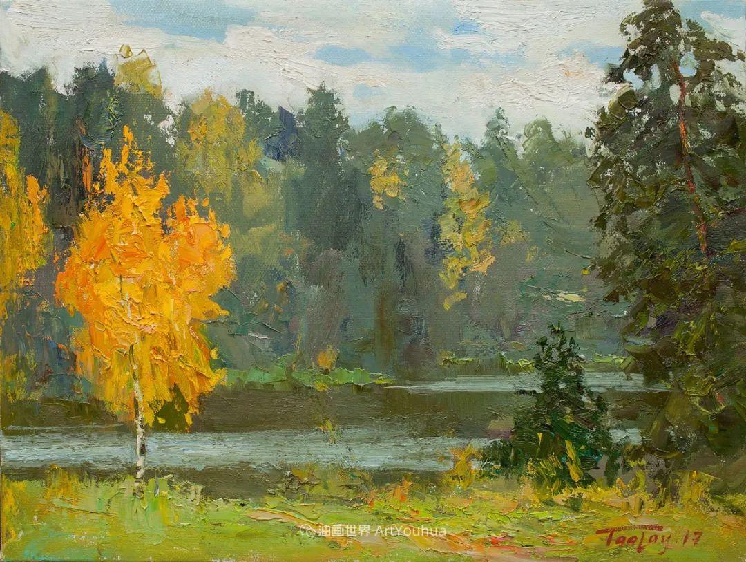 如此清新秀丽的油画风景,简简单单的美!插图35