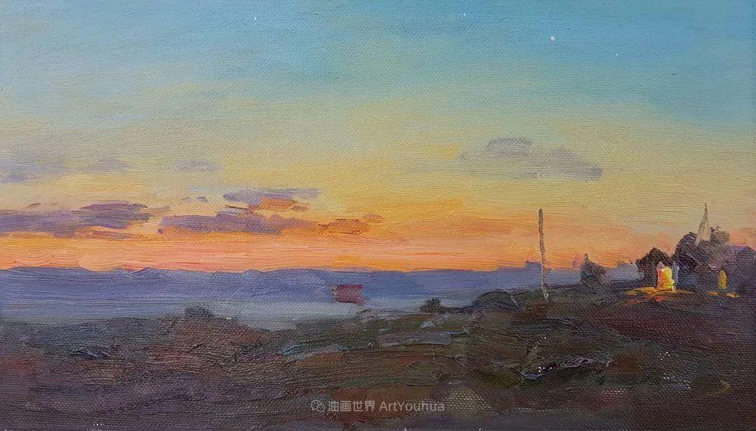 如此清新秀丽的油画风景,简简单单的美!插图47