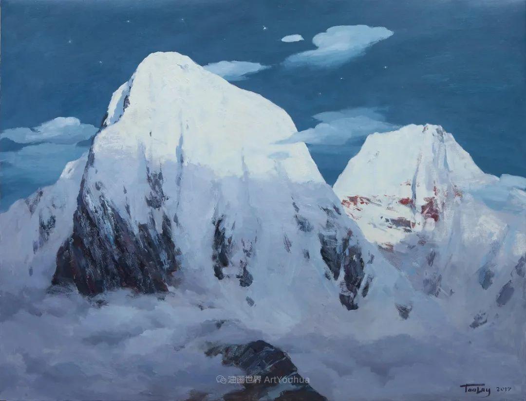 如此清新秀丽的油画风景,简简单单的美!插图69