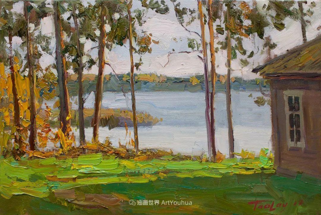 如此清新秀丽的油画风景,简简单单的美!插图107