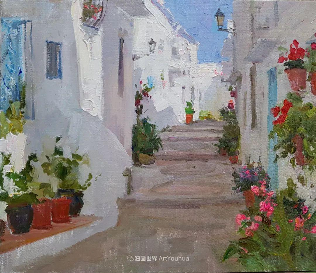 如此清新秀丽的油画风景,简简单单的美!插图113