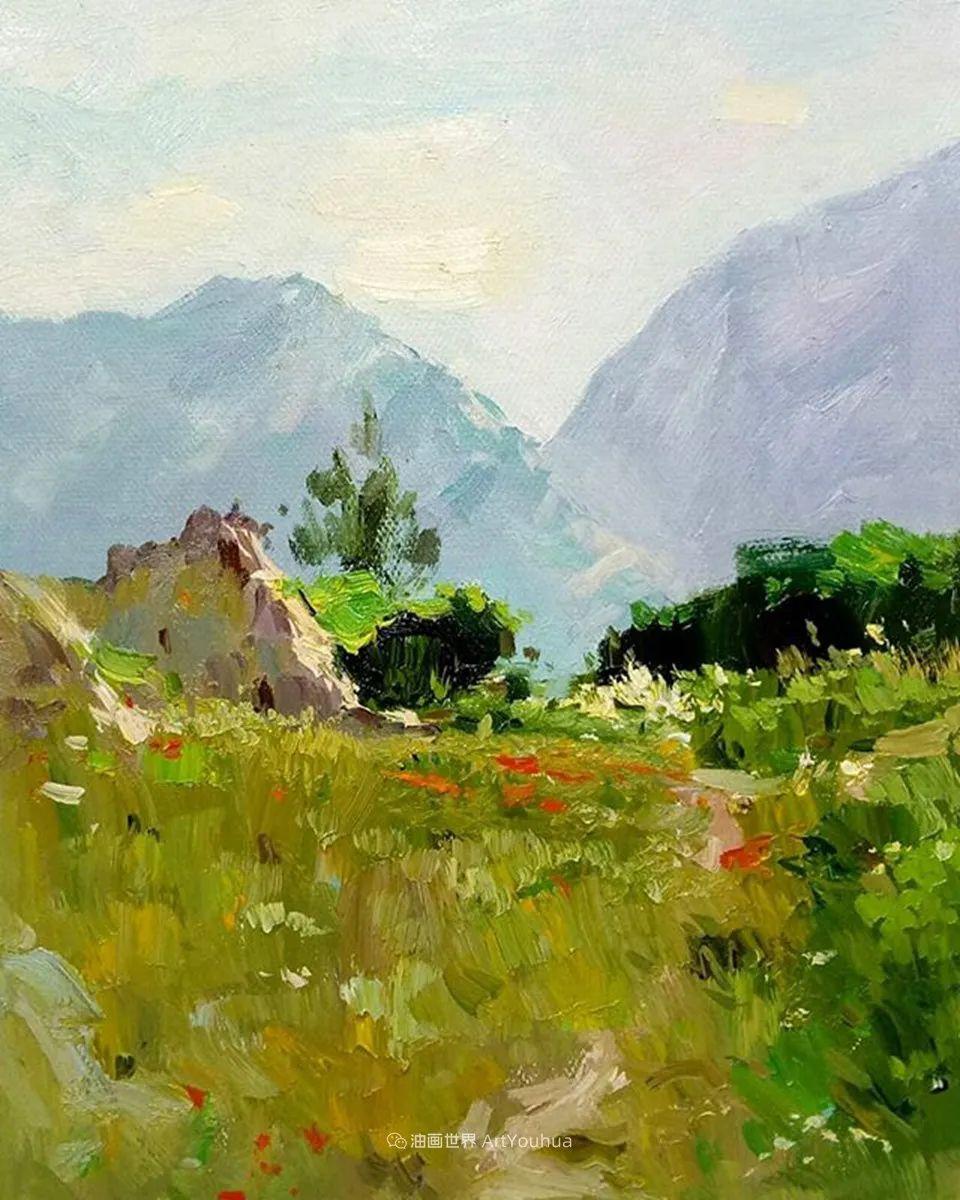 如此清新秀丽的油画风景,简简单单的美!插图119