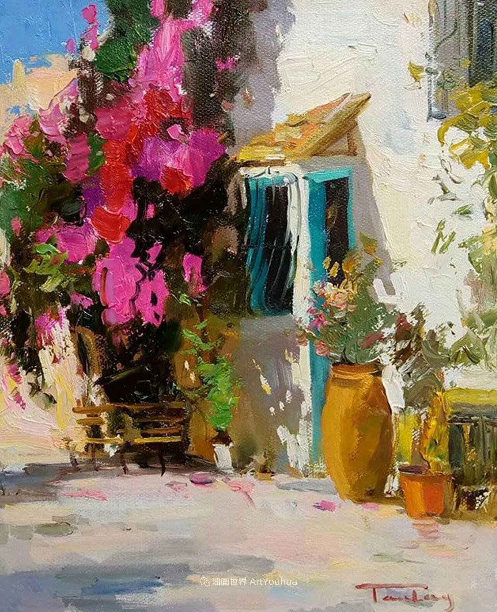 如此清新秀丽的油画风景,简简单单的美!插图121