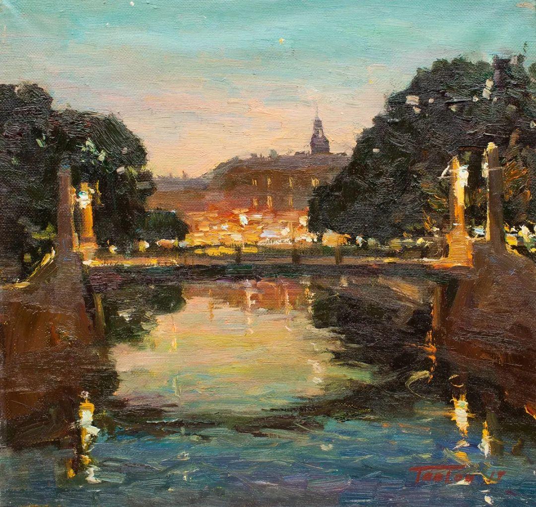 如此清新秀丽的油画风景,简简单单的美!插图123
