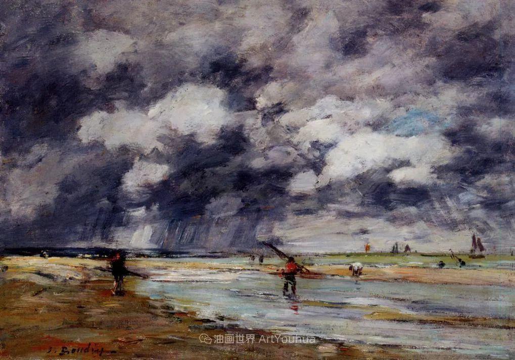 莫奈的启蒙恩师,法国最早印象派画家欧仁·布丹插图23