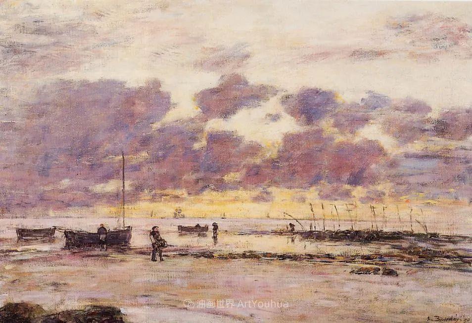 莫奈的启蒙恩师,法国最早印象派画家欧仁·布丹插图25