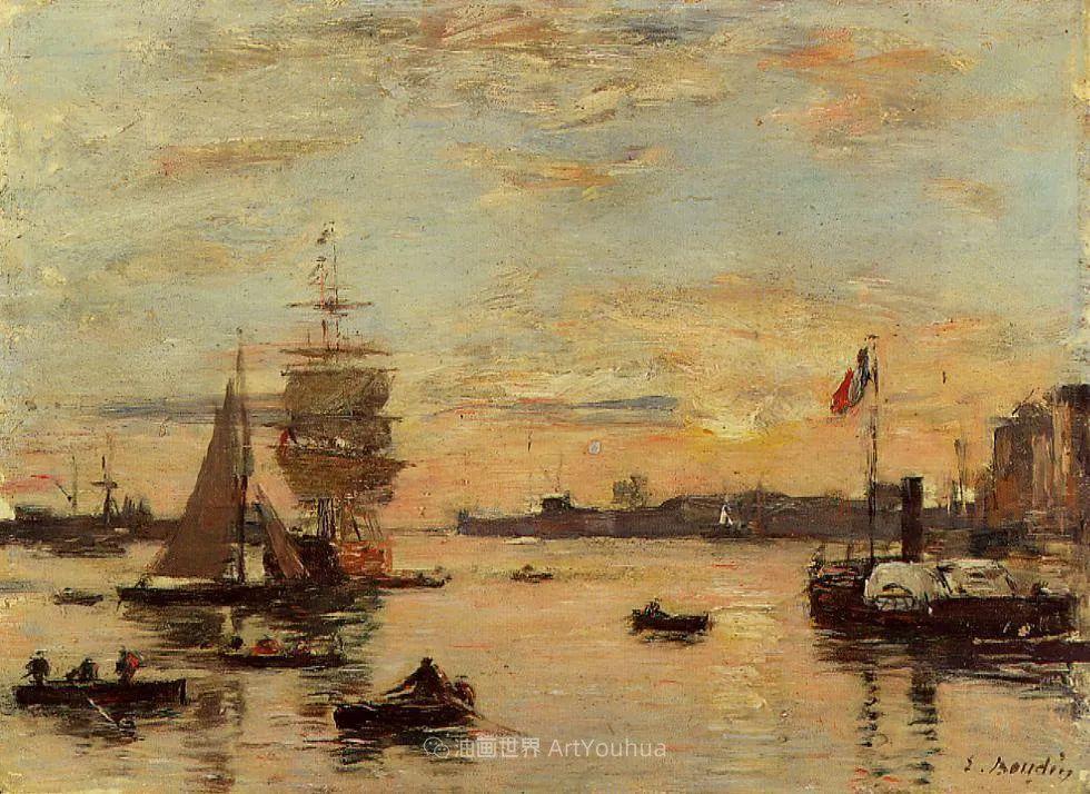 莫奈的启蒙恩师,法国最早印象派画家欧仁·布丹插图31