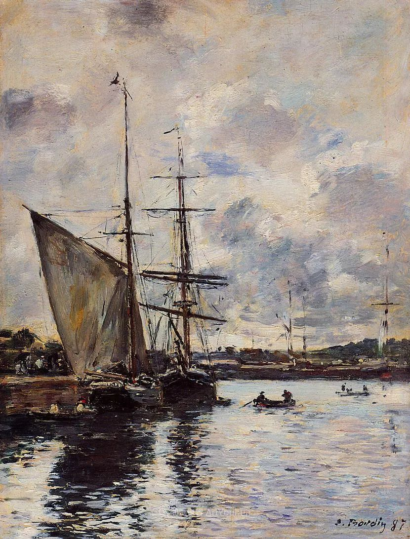 莫奈的启蒙恩师,法国最早印象派画家欧仁·布丹插图35