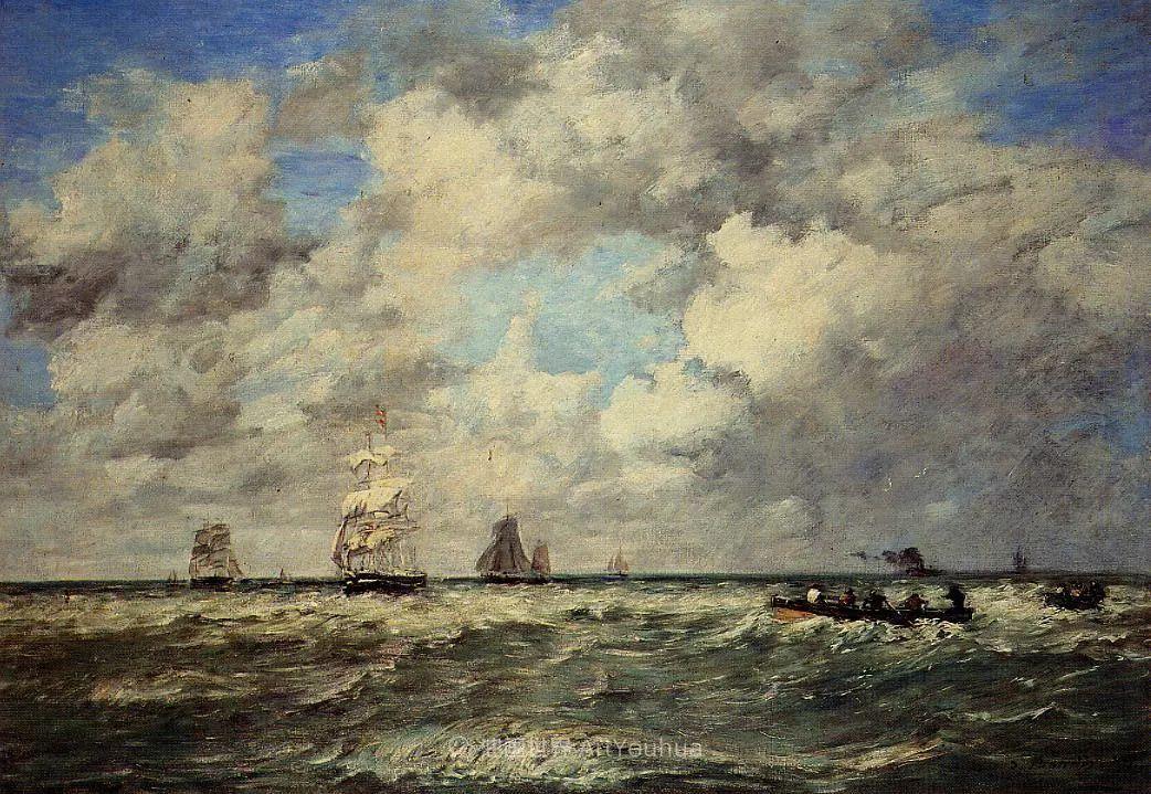 莫奈的启蒙恩师,法国最早印象派画家欧仁·布丹插图37
