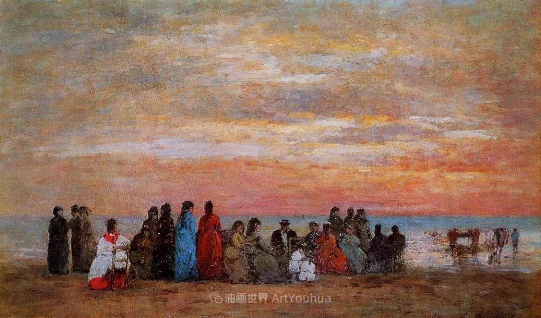 莫奈的启蒙恩师,法国最早印象派画家欧仁·布丹插图45