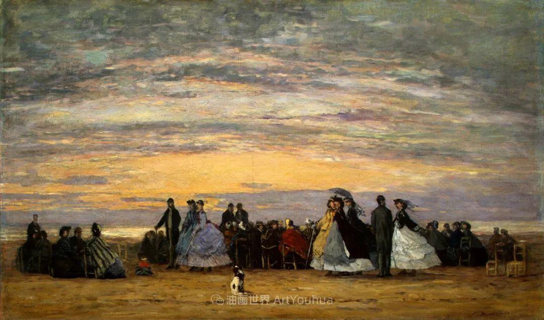 莫奈的启蒙恩师,法国最早印象派画家欧仁·布丹插图47