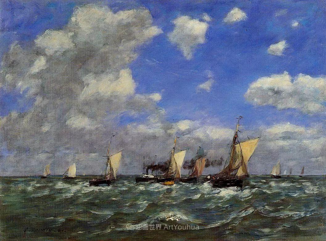 莫奈的启蒙恩师,法国最早印象派画家欧仁·布丹插图51