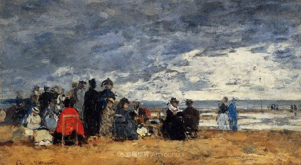 莫奈的启蒙恩师,法国最早印象派画家欧仁·布丹插图53