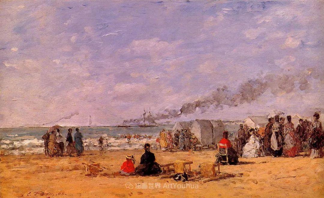 莫奈的启蒙恩师,法国最早印象派画家欧仁·布丹插图57