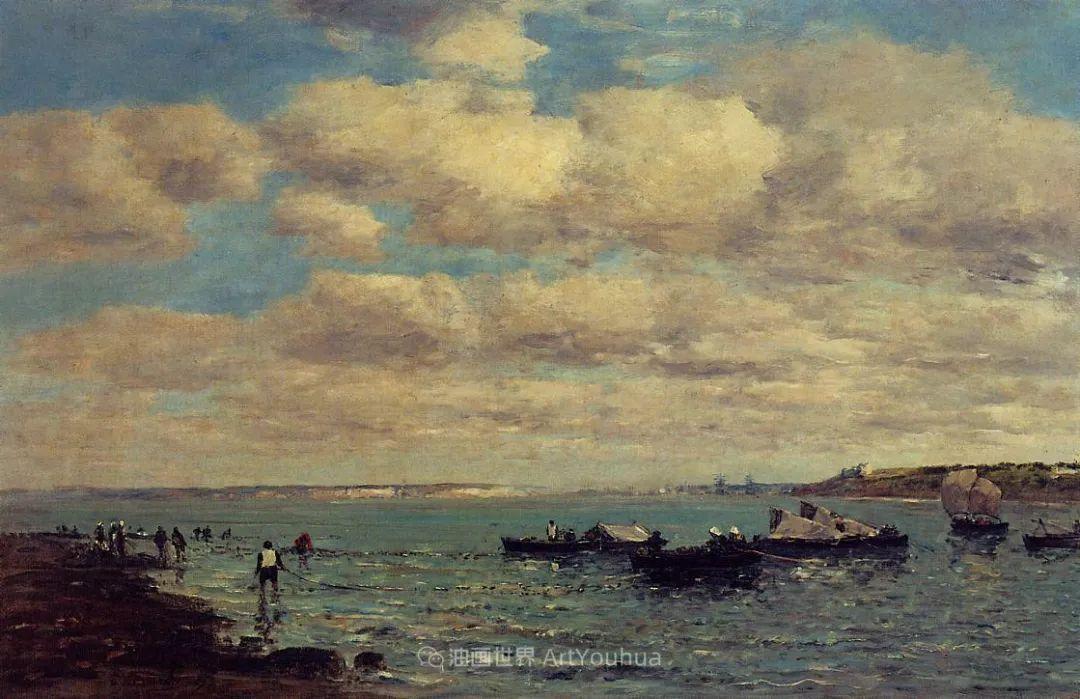 莫奈的启蒙恩师,法国最早印象派画家欧仁·布丹插图59