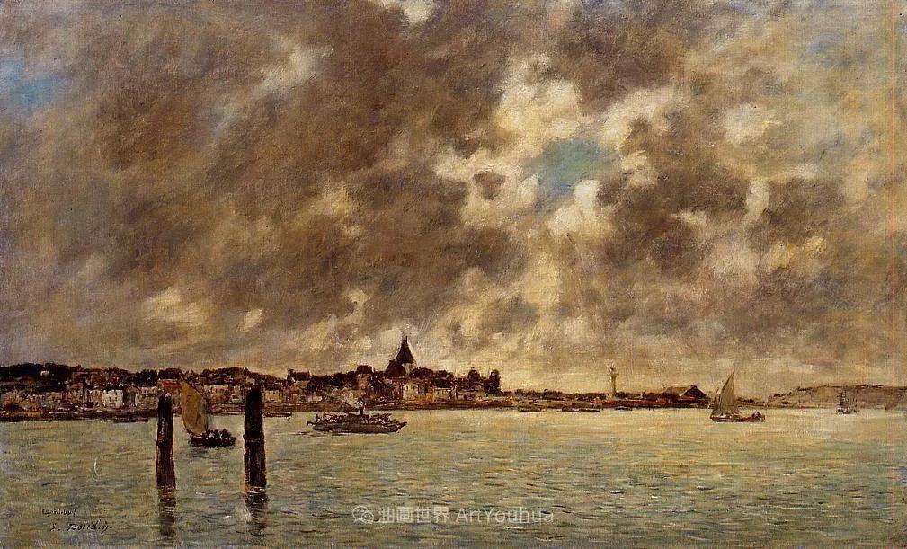 莫奈的启蒙恩师,法国最早印象派画家欧仁·布丹插图63