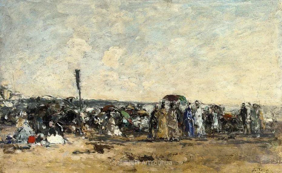 莫奈的启蒙恩师,法国最早印象派画家欧仁·布丹插图78