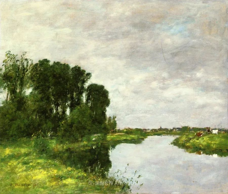 莫奈的启蒙恩师,法国最早印象派画家欧仁·布丹插图84