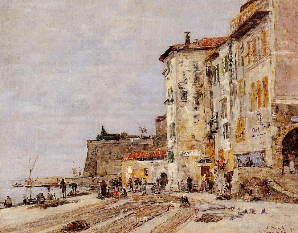 莫奈的启蒙恩师,法国最早印象派画家欧仁·布丹插图88