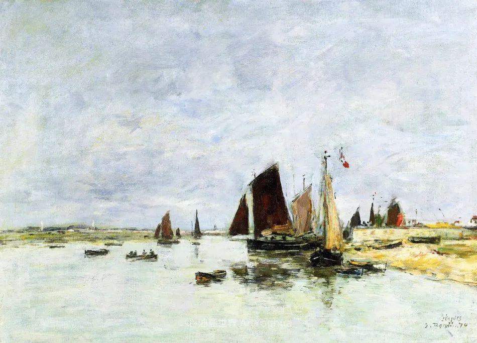 莫奈的启蒙恩师,法国最早印象派画家欧仁·布丹插图102