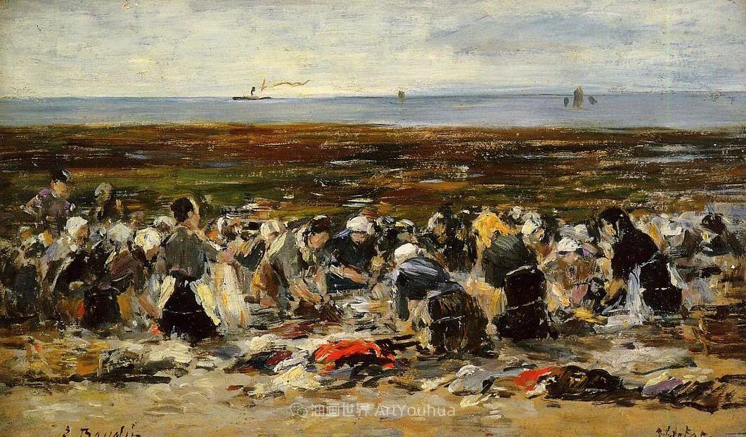莫奈的启蒙恩师,法国最早印象派画家欧仁·布丹插图106