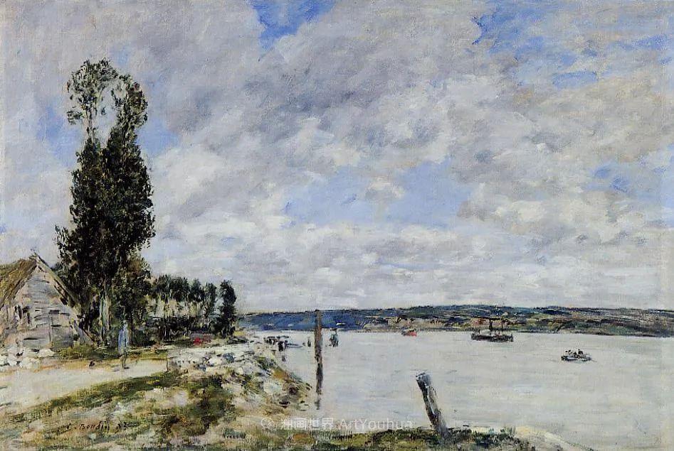 莫奈的启蒙恩师,法国最早印象派画家欧仁·布丹插图112