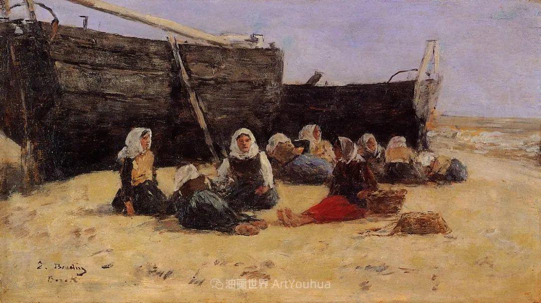 莫奈的启蒙恩师,法国最早印象派画家欧仁·布丹插图124