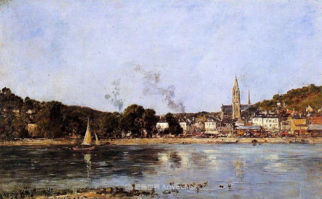 莫奈的启蒙恩师,法国最早印象派画家欧仁·布丹插图128