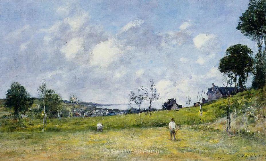 莫奈的启蒙恩师,法国最早印象派画家欧仁·布丹插图130