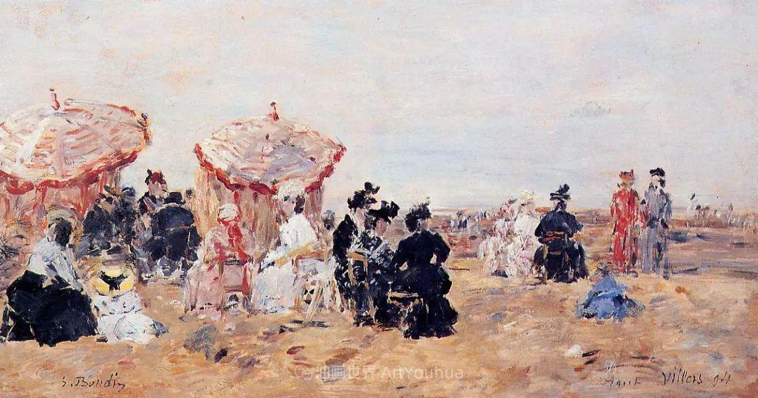 莫奈的启蒙恩师,法国最早印象派画家欧仁·布丹插图140
