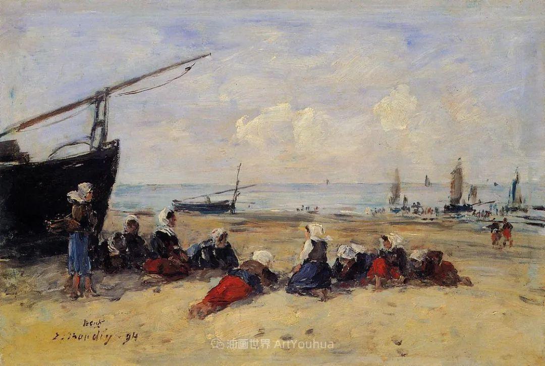 莫奈的启蒙恩师,法国最早印象派画家欧仁·布丹插图142