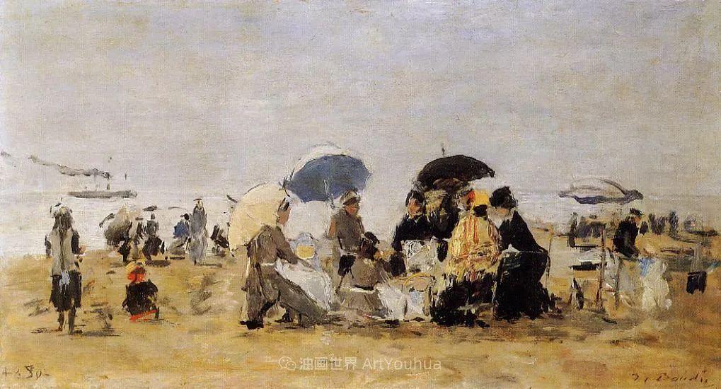 莫奈的启蒙恩师,法国最早印象派画家欧仁·布丹插图148