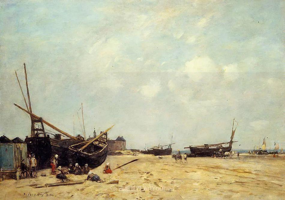 莫奈的启蒙恩师,法国最早印象派画家欧仁·布丹插图150